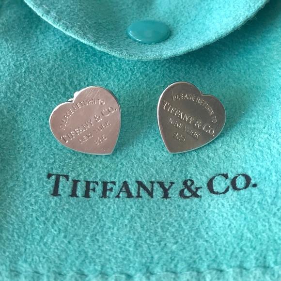 f84e024cb Tiffany & Co. Jewelry   Return To Tiffany Co Medium Heart Stud ...